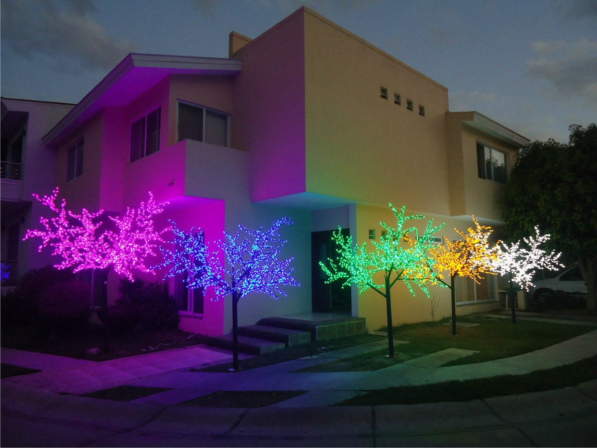 Arbol led forma de arce hoja de cherry 80cm medellin colombia for Led para jardin